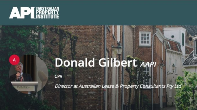 Don Gilbert Certified Practicing Valuer – Australian Property Institute